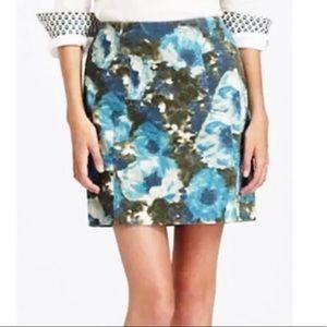 Anthropologie Postmark corduroy floral skirt Sz 4